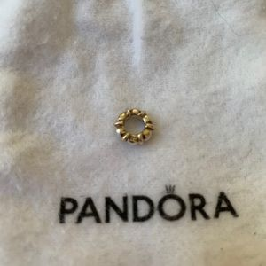 Gold and silver Pandora spacer